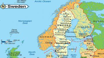 С кем граничит Швеция