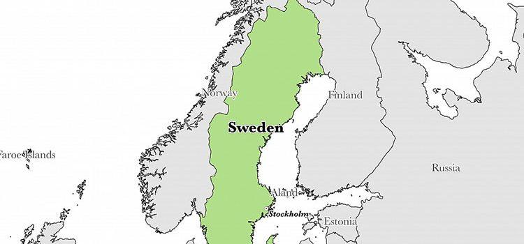 Географическое положение Швеции
